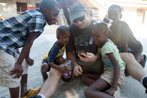 Tom Cobau and children